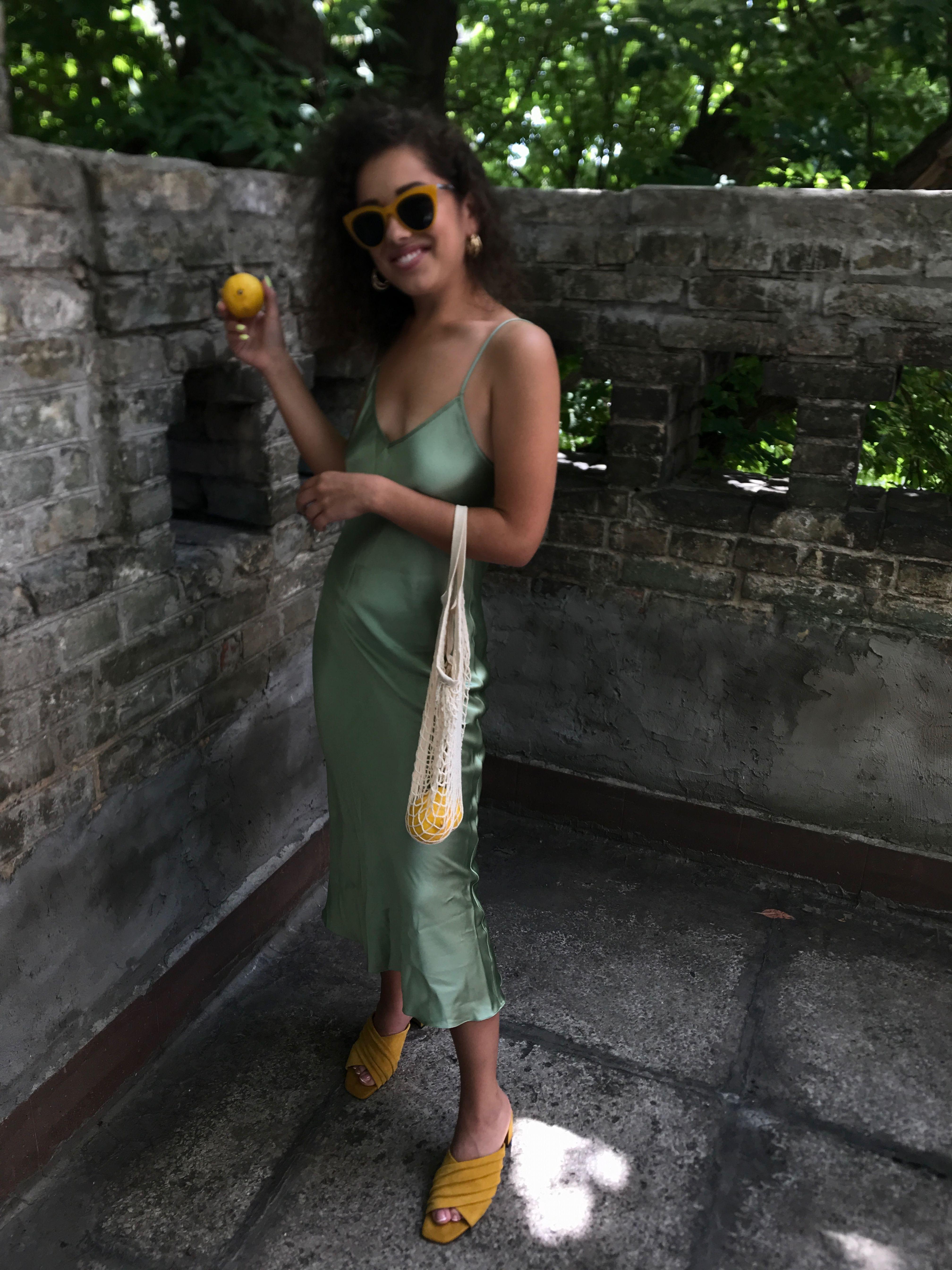 Olive Aka Pistachio Silk Slip Dress By Serenity In Summer Outfit Green Silk Dresses Silk Slip Dress Slip Dress [ 5376 x 4032 Pixel ]