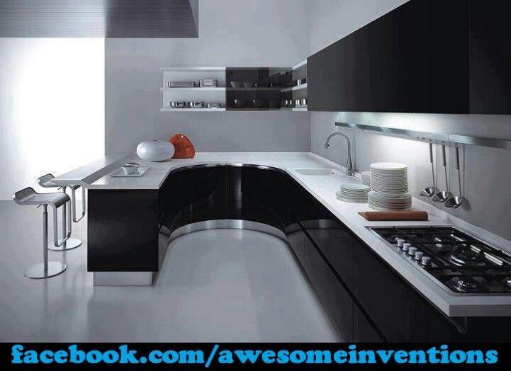Spacioue J Shaped Kitchen Inside Home Decor Pinterest Kitchen