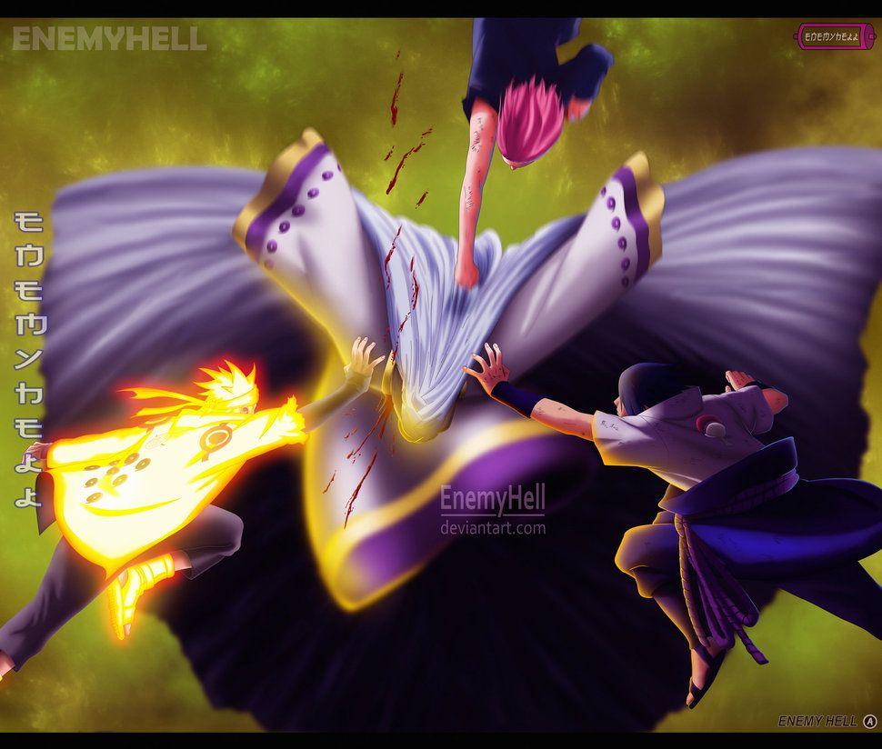 Naruto Manga 689 Team 7 Vs Kaguya Ootsutsuki By Enemyhell Team 7 Naruto Naruto Shippuden Anime