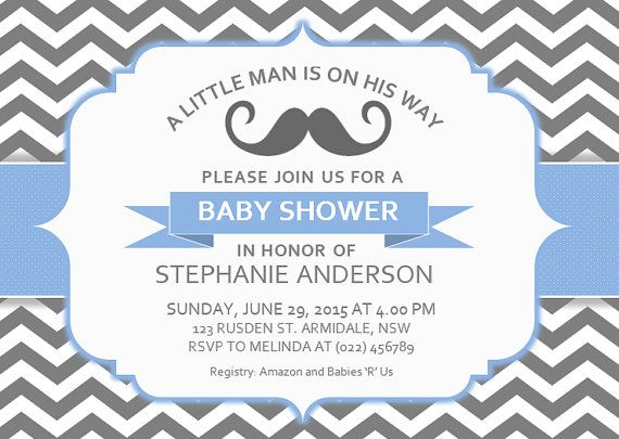 DIY Printable MS Word Baby Shower Invitation Template By INKPOWER, $12.00  Invitation Templates Microsoft