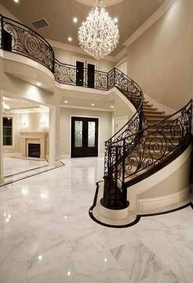 Marble Flooring Staircase Designs