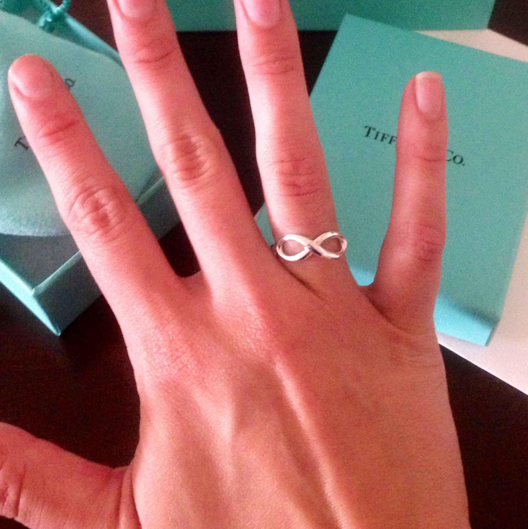 Tiffany Infinity Ring Christmas I think so PLEASE ITS SOLID SILVER YOU