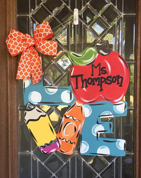 classroom door hanger teacher door hanger back to school door sign