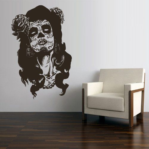 Tattoo Wall Art wall decal vinyl sticker decals art decor skull tattoo girl