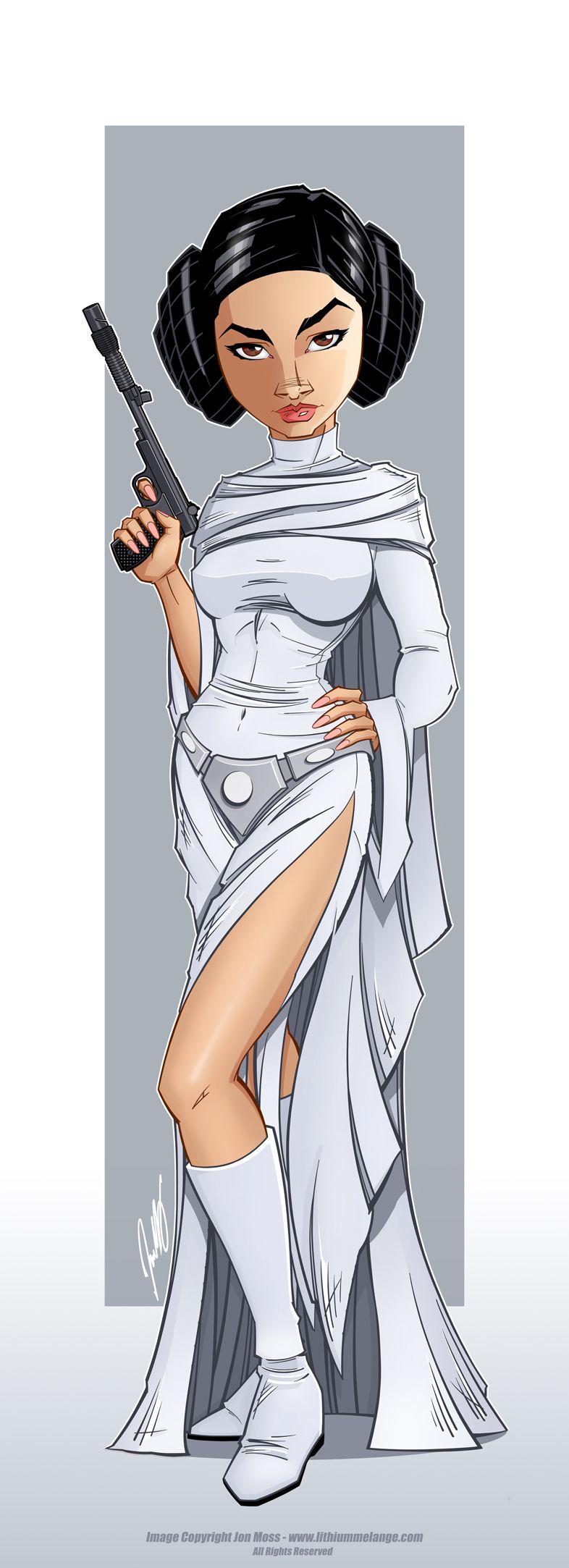 Princess Leia by Jon-Moss.deviantART.com