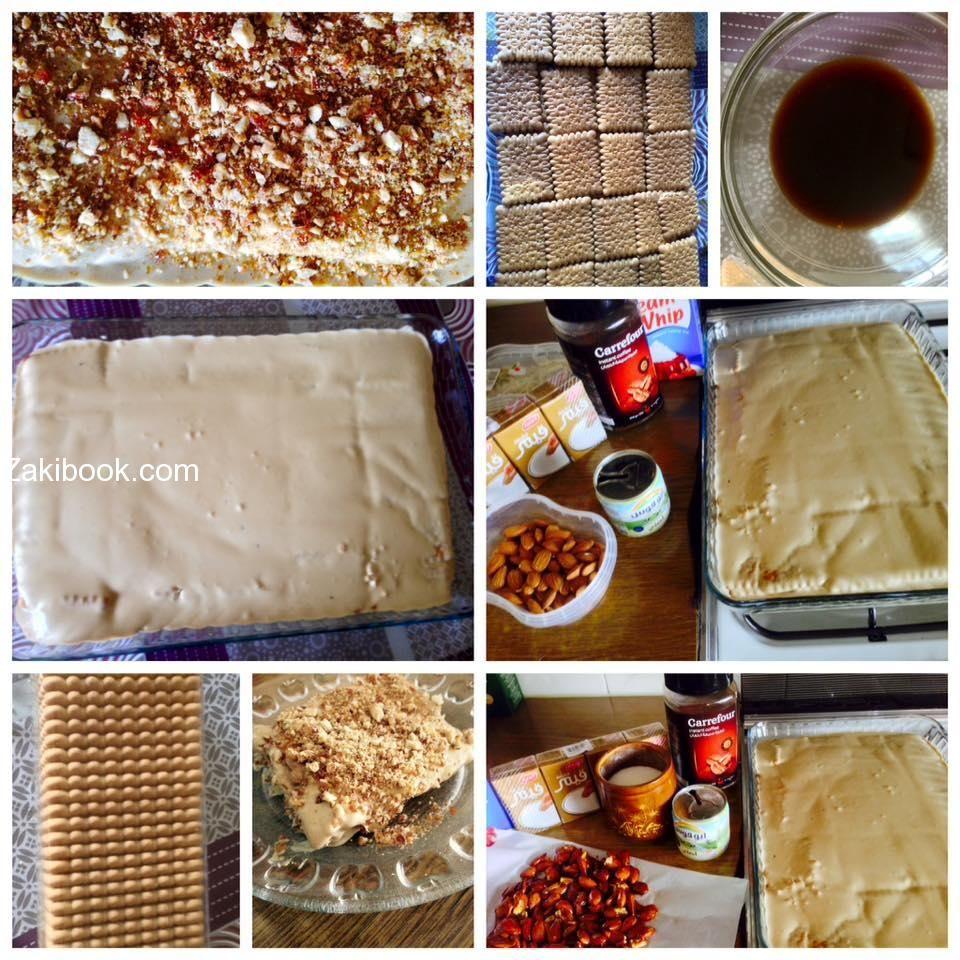 كيكة النسكافيه الباردة خطوة بخطوة مع الصور زاكي Food Cooking Breakfast