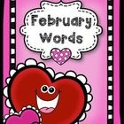 February Word Pack  Use visual and words to assist your kiddos with writing during the month of February  This pack includes a word bank of 25 word...