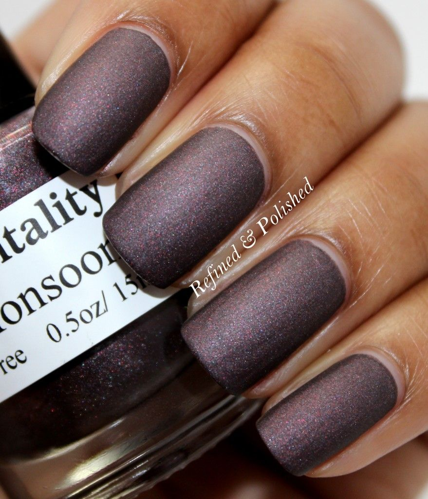 Mentality Nail Polish - Monsoon. Swatch by Refined and Polished.