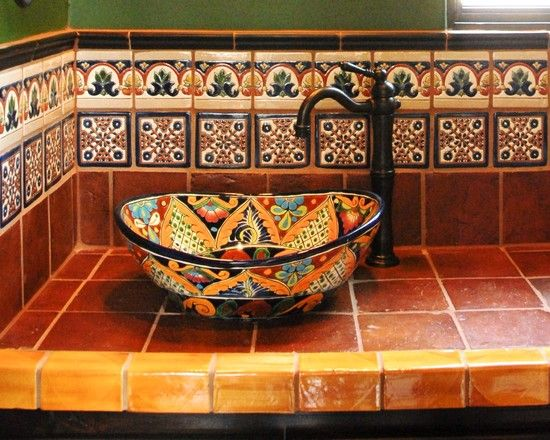 I Love The Colors Of Tiles On This Mexican Inspired