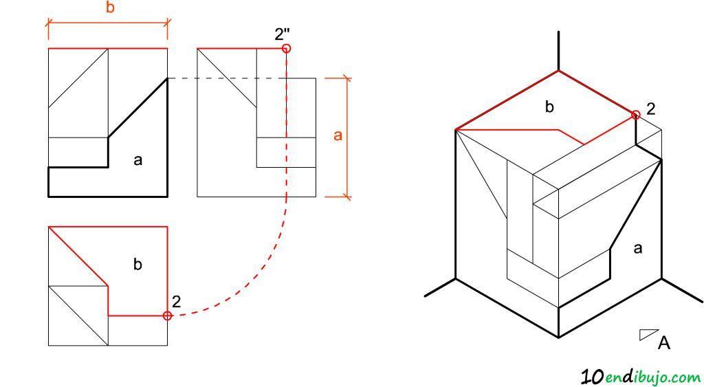 Superficies Perspectiva Isometrica Vistas Dibujo Tecnico Consejos De Diseno Grafico Tecnicas De Dibujo
