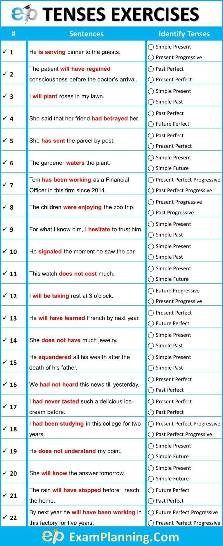 Mixed Tenses Exercises With Answers Examplanning Tenses Exercises English Grammar Exercises English Tenses Exercises [ 1877 x 768 Pixel ]