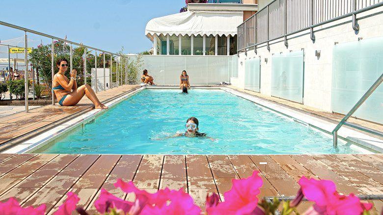 Freestanding Aboveground Swimming Pool along the beach