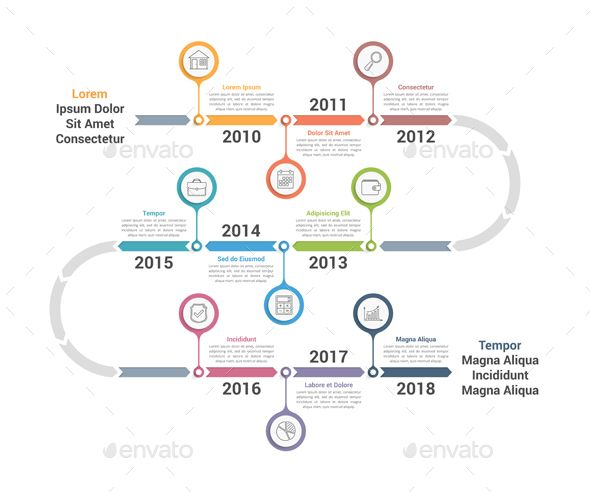 timeline infographics template archive contains vector ai cs3