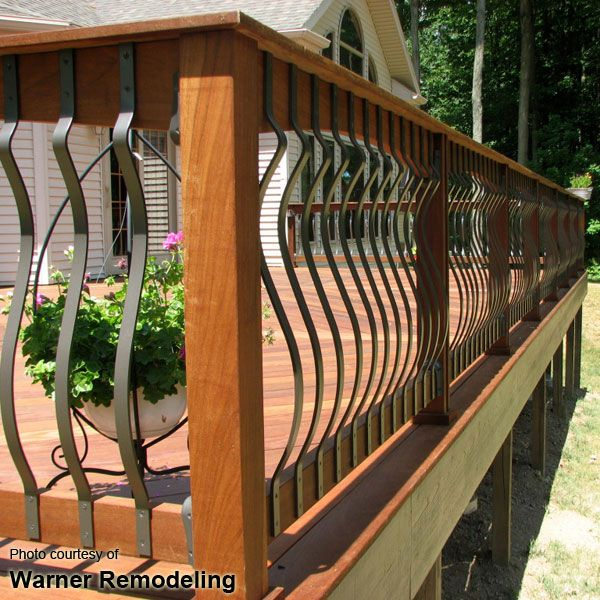 decorative deck railing panels wrought iron panel fence.htm deck baluster image gallery  with images  deck balusters  patio  deck balusters