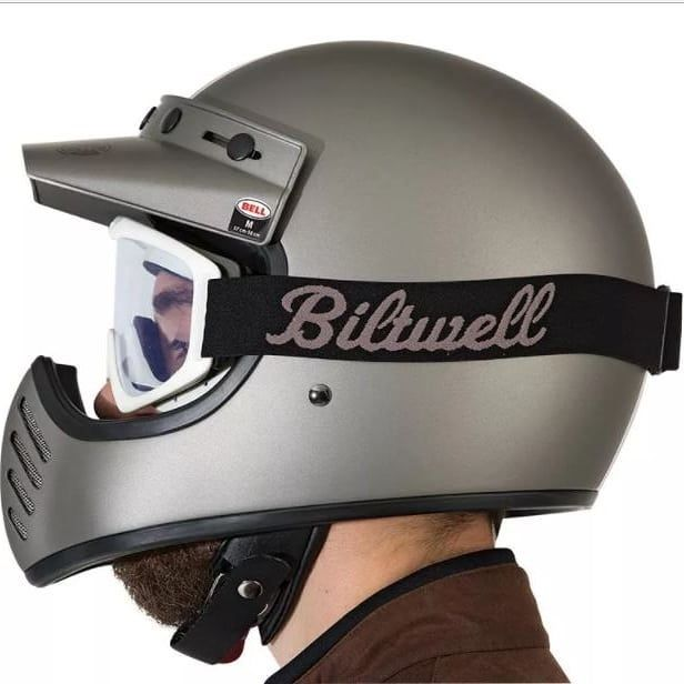 Bell Moto 3 Independent Combine with Goggle from biltwell ,  #bellmoto3helmet #bellhelmetoriginal #bellmoto3