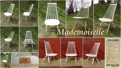 Mademoiselle 59 Stol Pinnestol Design Arkitekt Ilmari Tapiovaara AB Edsbyverken Sweden