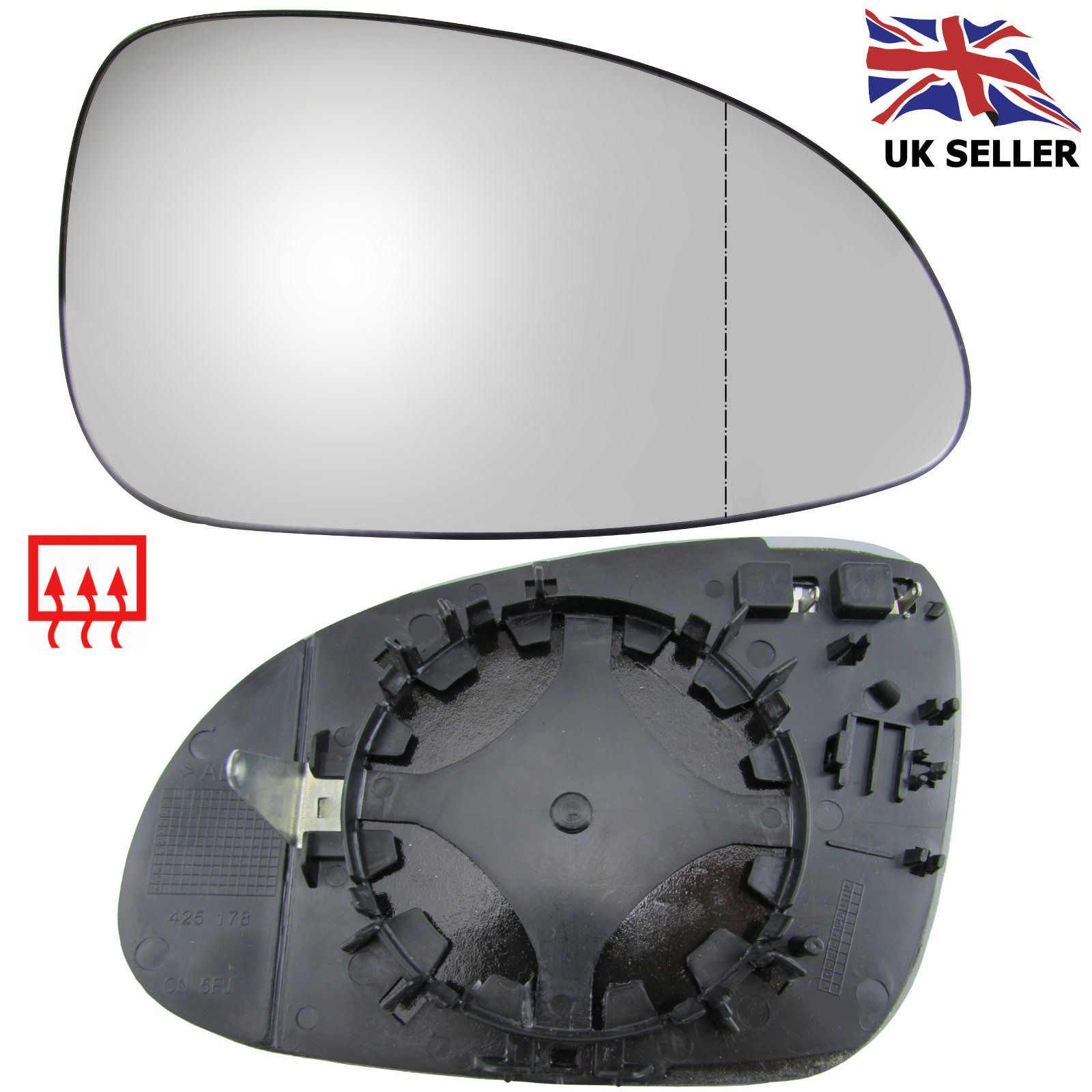 Vw Volkswagen Golf Mk5 Wing Mirror Glass Heated Right Driver Offside 2003 08 Vw Passat Wing Mirrors Auto Parts Online