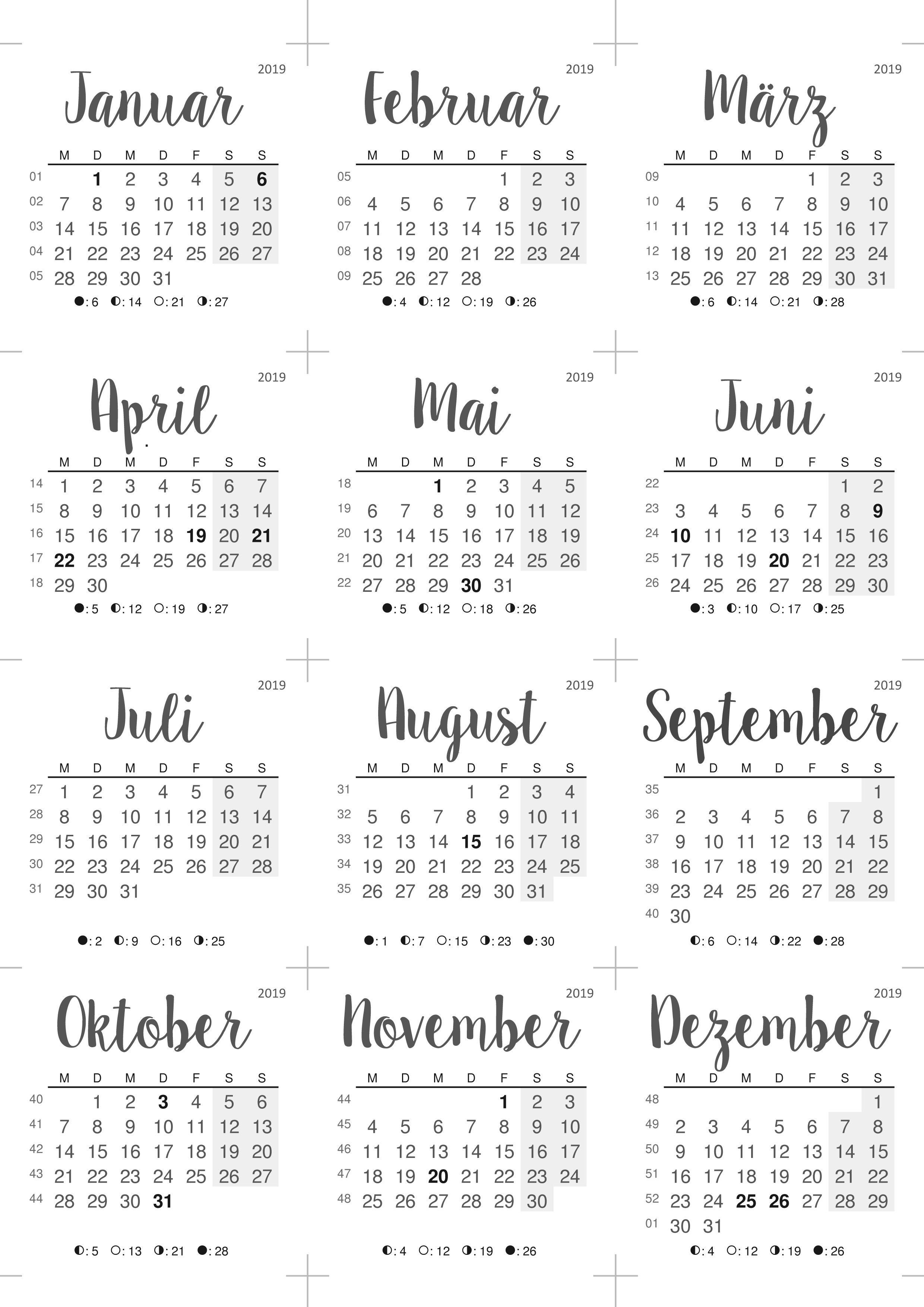 Tischkalender 2019 Mit Notizblock Kalender Zum Ausdrucken Tischkalender Kalender Notizbuch