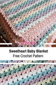 [Free Pattern] Simple And Easy Sweetheart Baby Blanket Crochet Pattern images