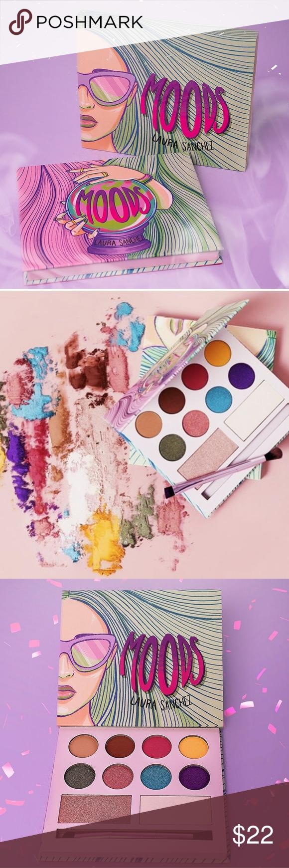 Laura Sanchez Moods Eyeshadow Highlighter Palette NWT