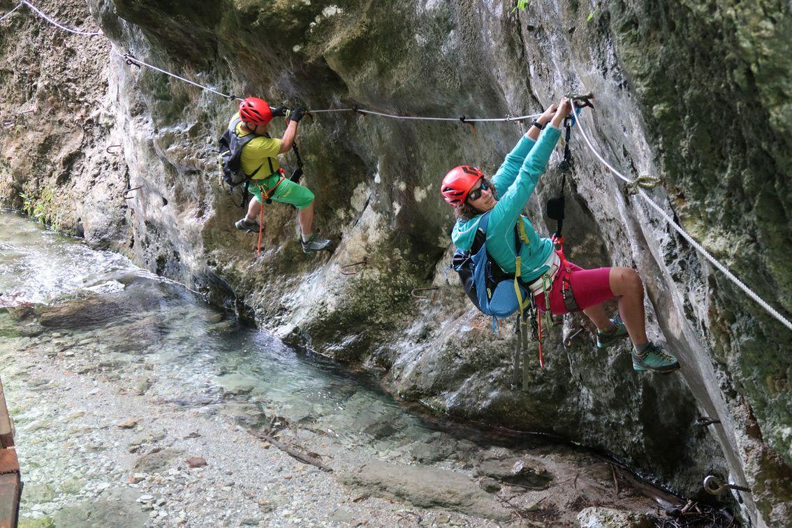Klettersteig Ochelbaude : Klettersteig ferrata casto park in italien
