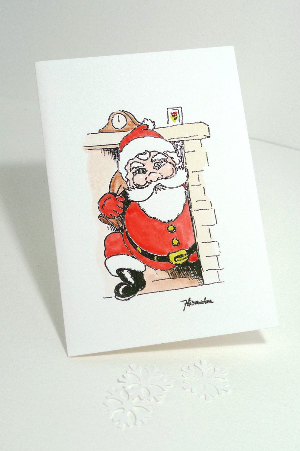 Special Santa Father Christmas Handmade Hand Painted Embossed