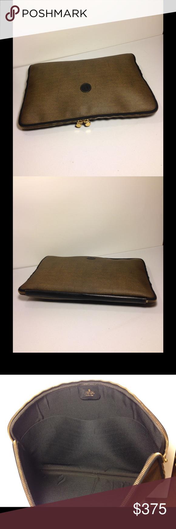 e5231c0b76e6 Selling this Fendi Vintage Briefcase File Attache Laptop Bag on Poshmark!  My username is  deepeevintage.  shopmycloset  poshmark  fashion  shopping   style ...