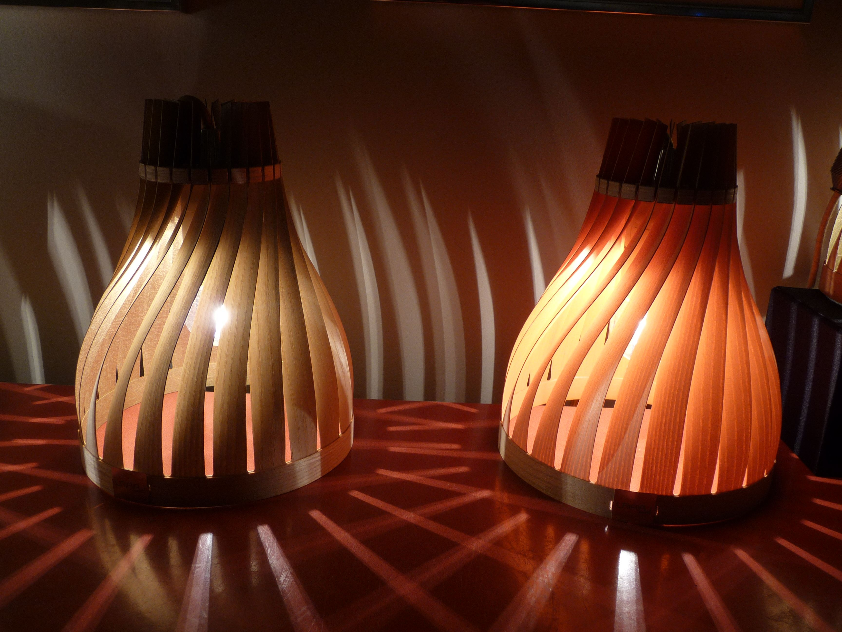 Luminaires lairial volupte chêne or zenith et frêne orange