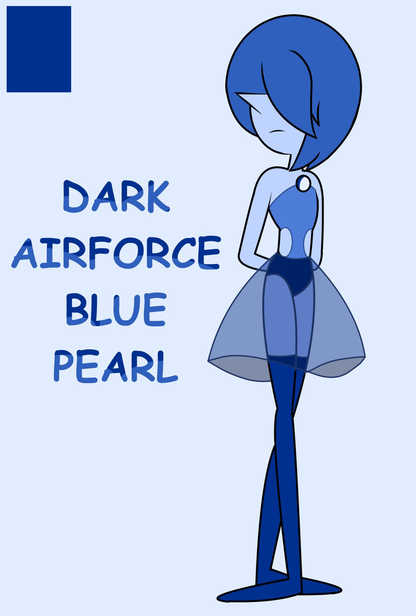 Dark Airforce Blue Pearl   #StevenUniverse #su #pearl