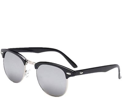 7220541af0 Shiratori New Vintage Classic Half Frame Semi-Rimless Wayfarer Clear Lens  Glasses …