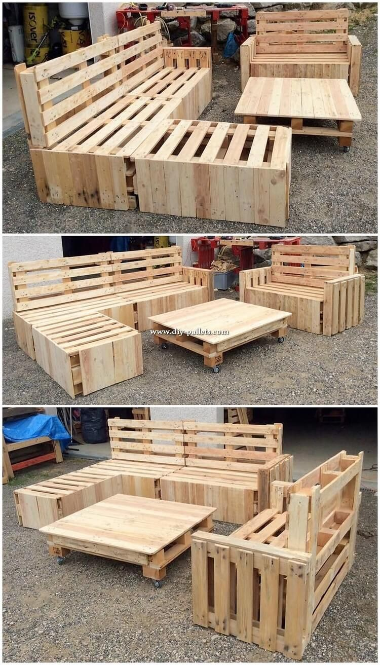 Remarkable DIY Creations Made with Shipping Pallets   Wood ...