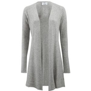 Love the shape of this cardigan.  Would be great in black, ivory, or colors.