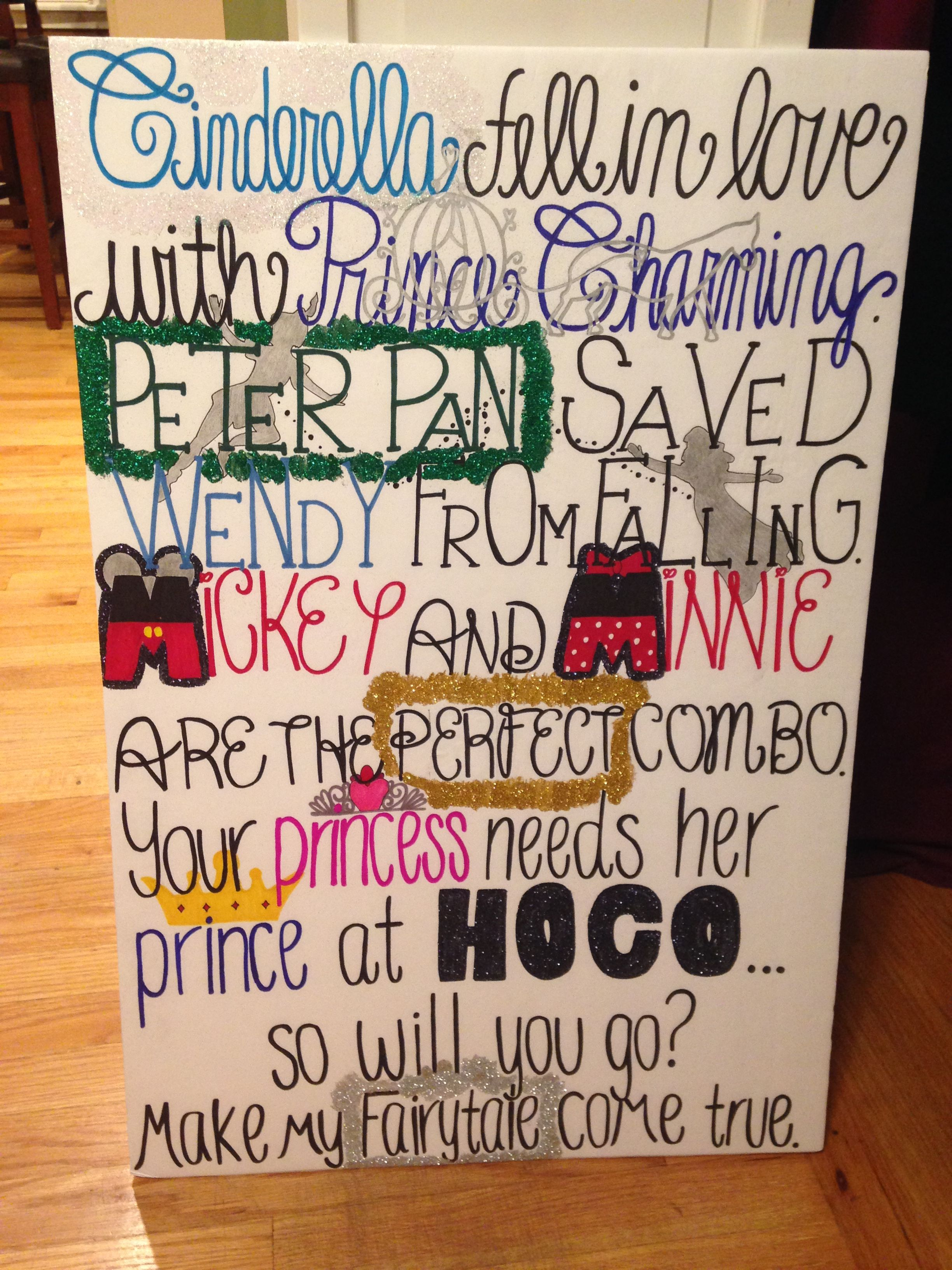 disney themed homecoming proposal | homecoming ladywood in 2018