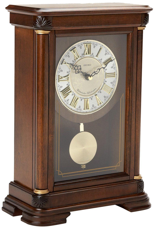 214 amazonsmile seiko mantel chime with pendulum clock brown 214 amazonsmile seiko mantel chime with pendulum clock brown alder case ornamental dial watches amipublicfo Images
