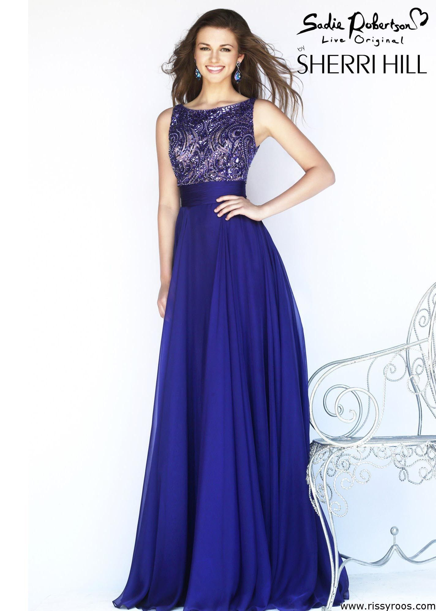Sherri Hill Dress 11170 | Blue evening gowns, Sherri hill dress ...