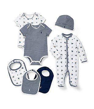Ralph Lauren Childrenswear Baby Boys Newborn Footed Coverall