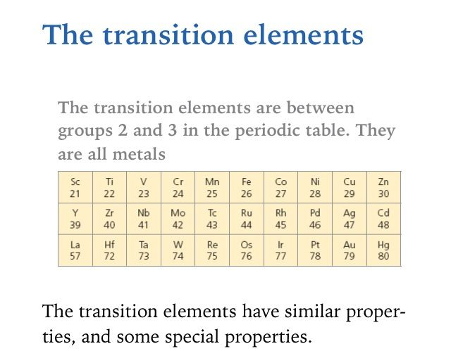 The transition metals are group ii group iii elements aqa c3 the transition metals are group ii group iii elements urtaz Choice Image