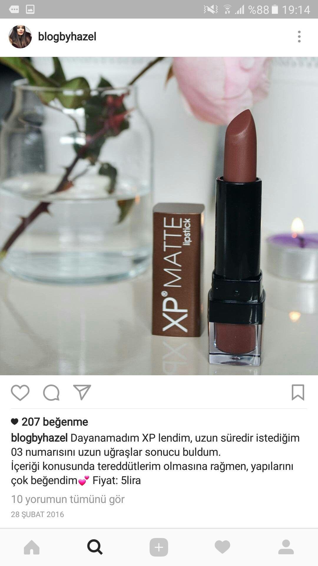 Havva Adlı Kullanıcının Ruj Renkleri Panosundaki Pin Lipstick Ve