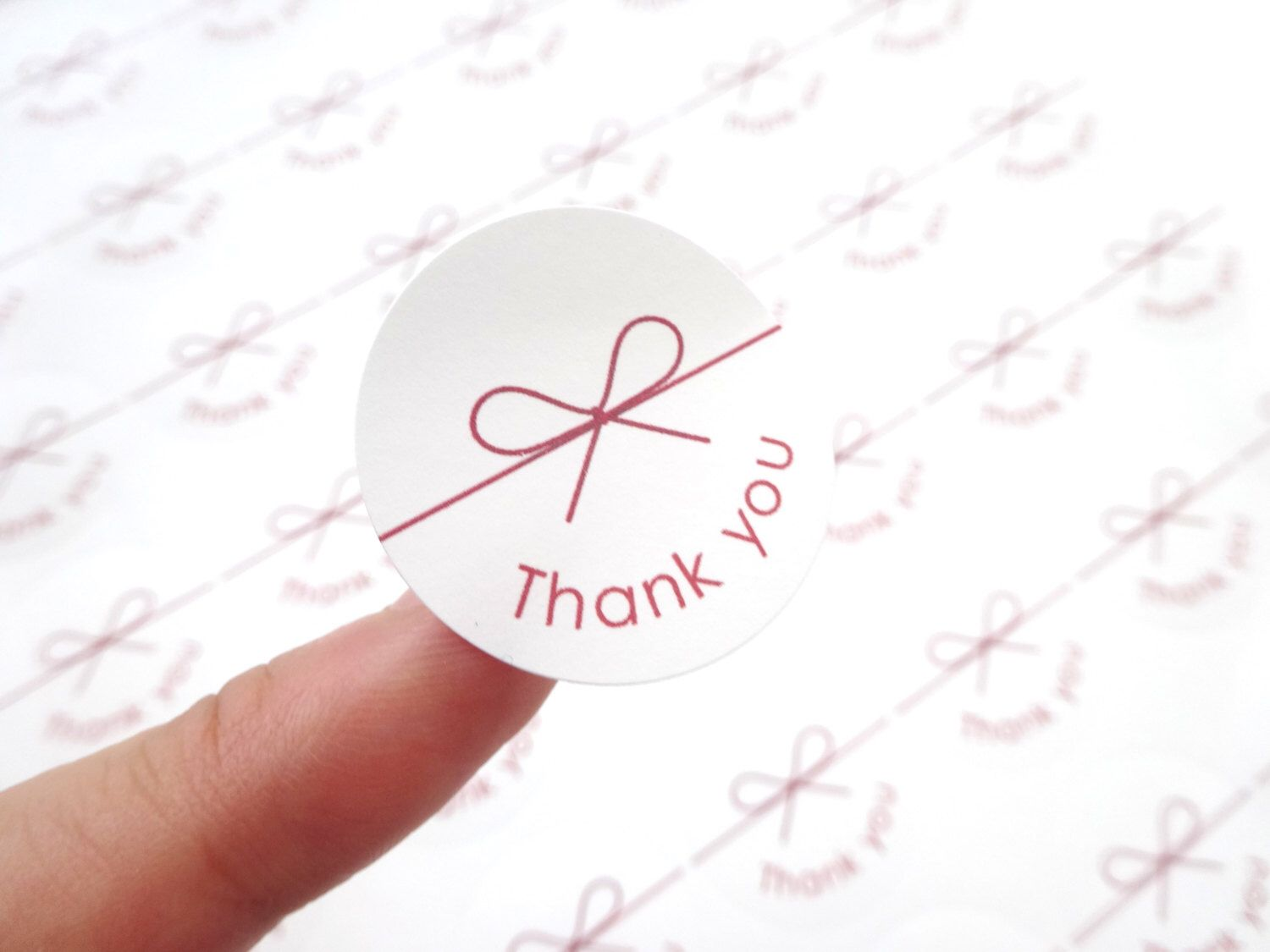 Thank you stickers, Ribbon circle sticker, Japanese stationery ...