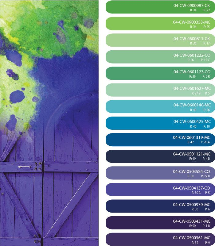 purple blue and green color scheme, bright color scheme, purple blue and green  color