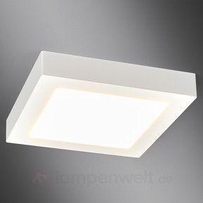 Weiße LED-Bad-Deckenleuchte Rayan in eckiger Form kaufen | Lampen