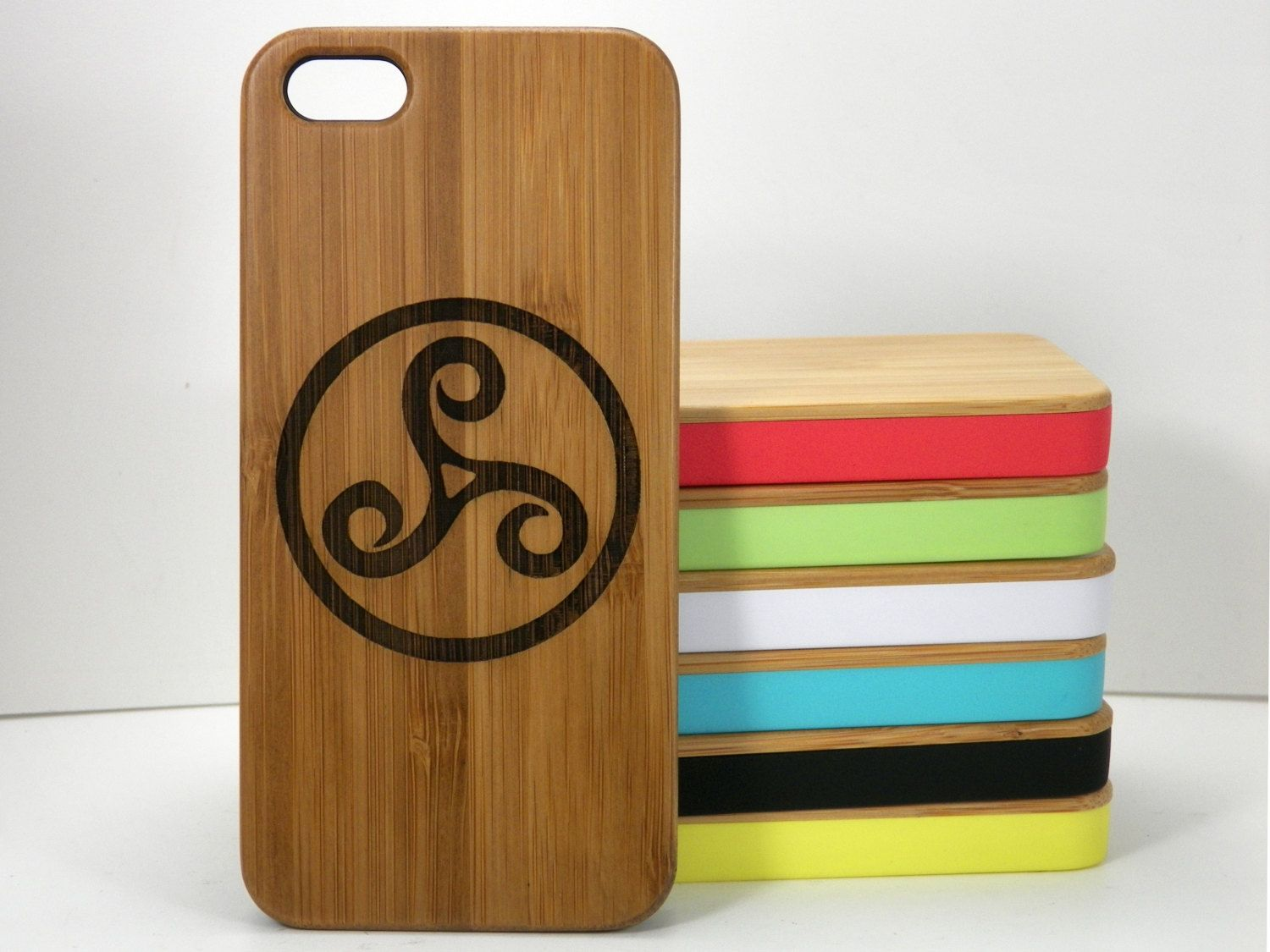 Triskele Symbol Iphone 5c Case Eco Friendly Bamboo Wood Cover