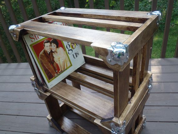Wooden Vinyl Crates - Stackable - Vinyl Album Storage Units- Free Shipping