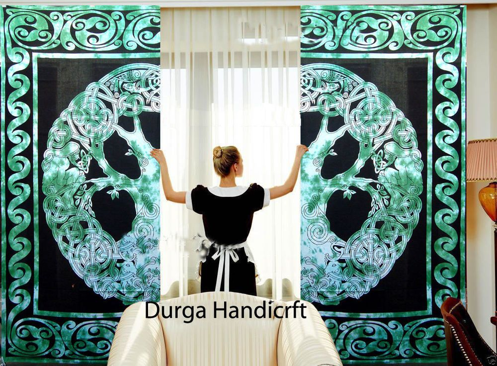 Mandala Celtic Hippie Tapestry Door Curtain Indian Decor Window