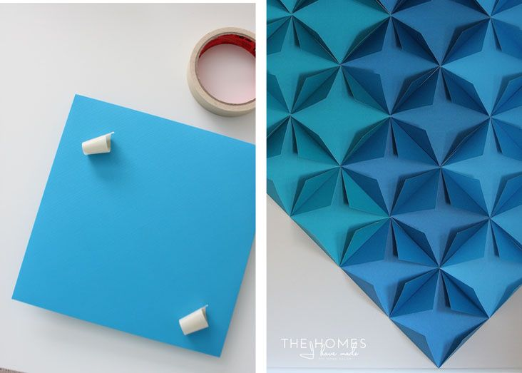 Renter Friendly 3d Paper Wall Art Tips Forrent Origami Wall Art Paper Wall Art Paper Towel Roll Art