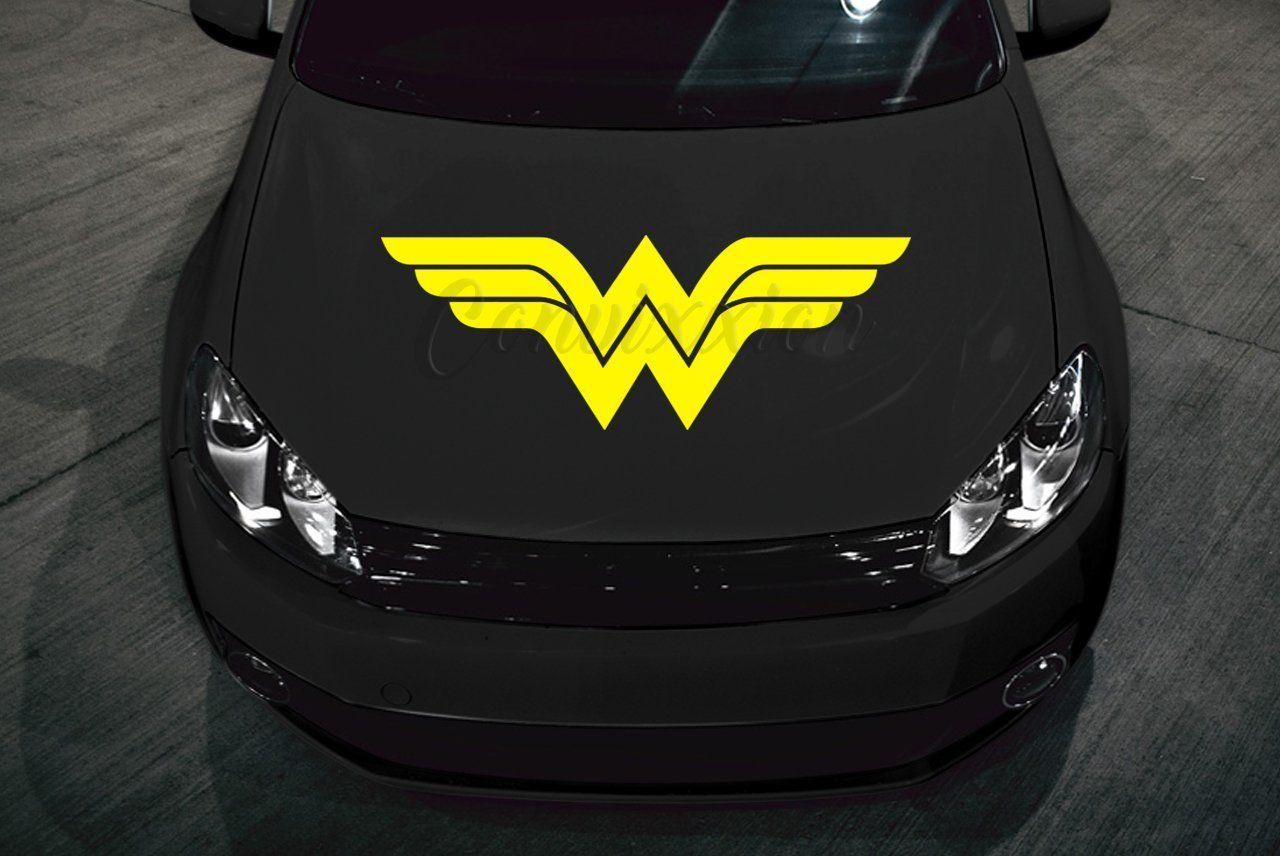 Classic Wonder Woman Car Hood Decal 32 Choose Color Handmade Wonder Woman Batman Backgrounds Chevrolet Logo [ 856 x 1280 Pixel ]