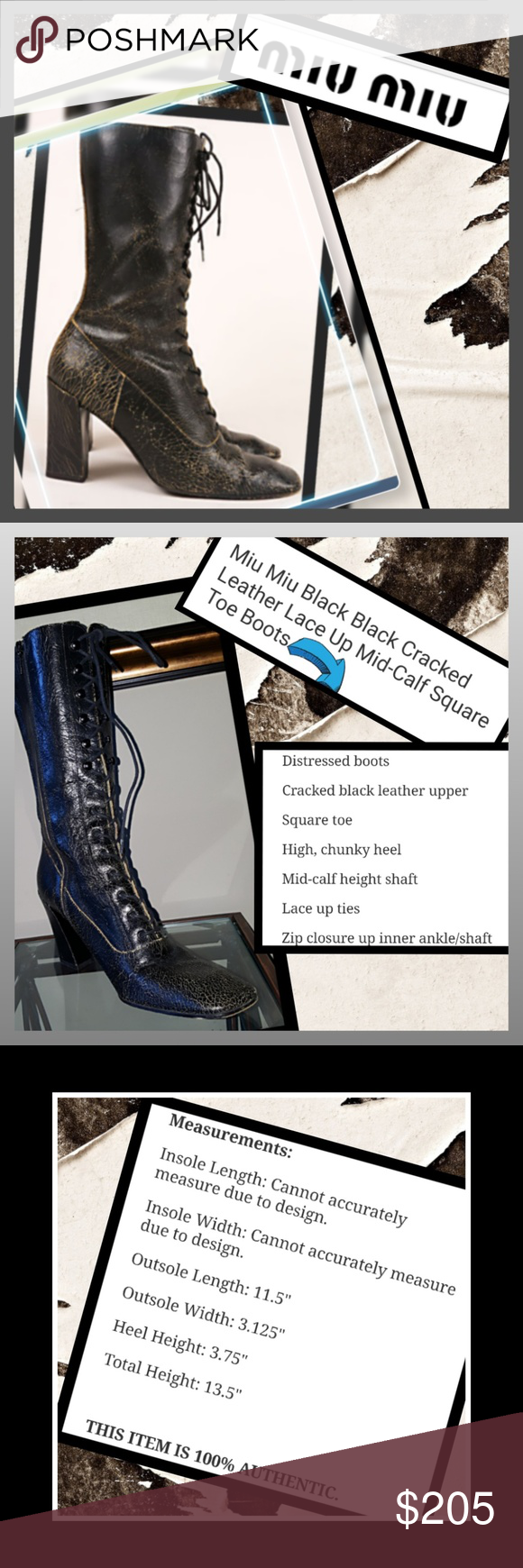 7edb7a77000 Spotted while shopping on Poshmark  MIU MIU Lace Front boots!  poshmark   fashion  shopping  style  Miu Miu  Shoes
