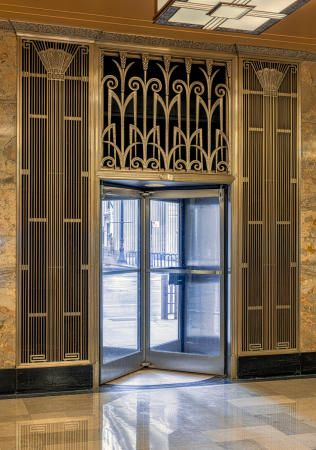 Art Deco ~ Chicago | Interior entrance detail, Chicago Board of Trade  Building, W