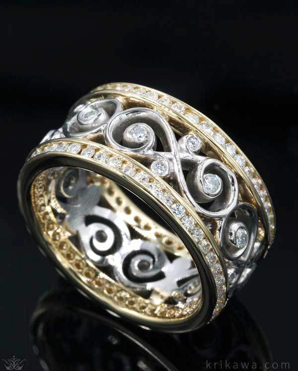 A Wedding Band Sparkling With Diamonds And Symbolic Of Your Eternal