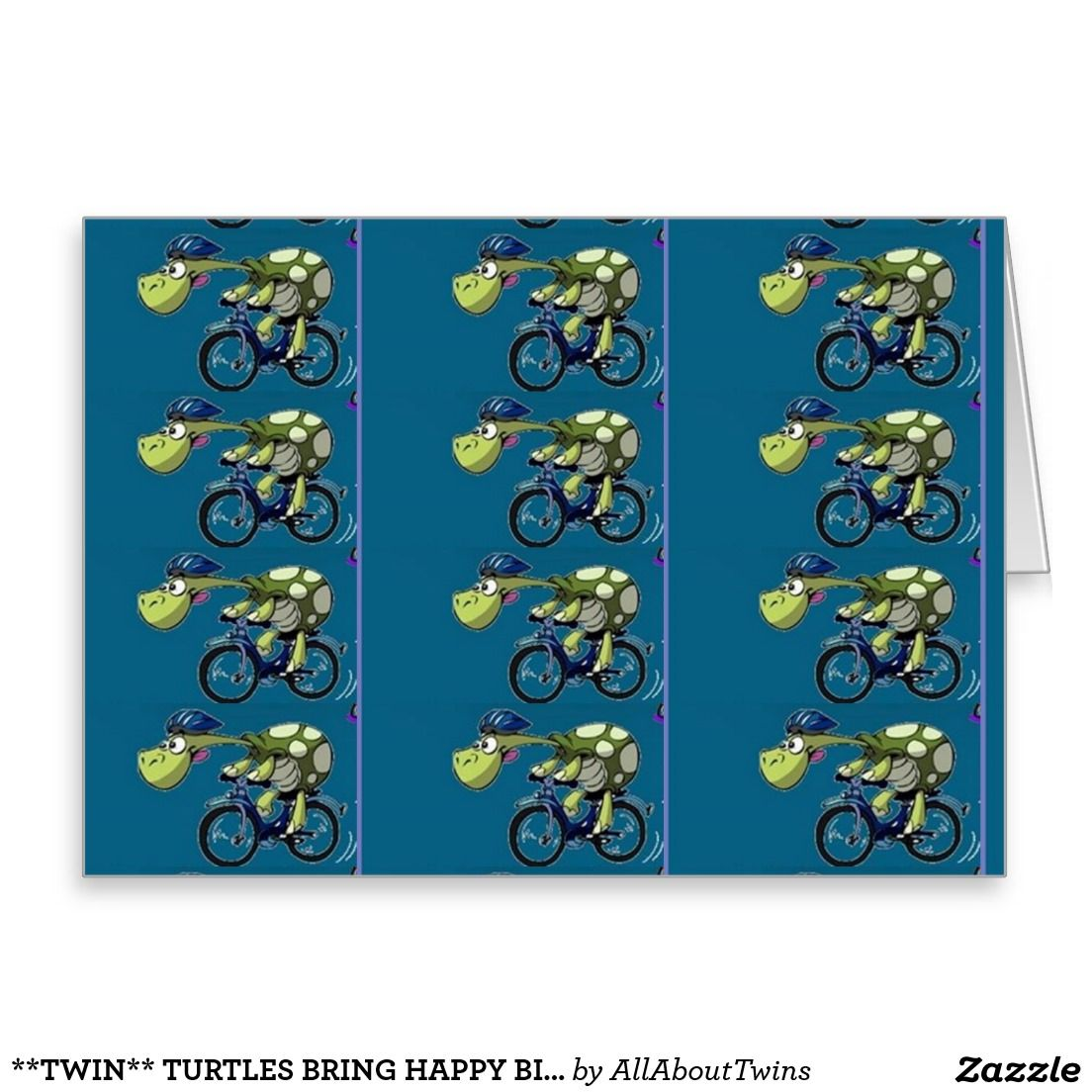 Twin turtles bring happy birthday wishes to u card happy twin turtles bring happy birthday wishes to you for one turtle would bookmarktalkfo Images